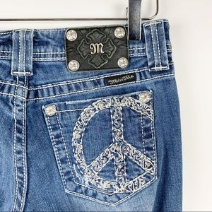 Miss Me Everlasting Peace Bootcut Jeans 28